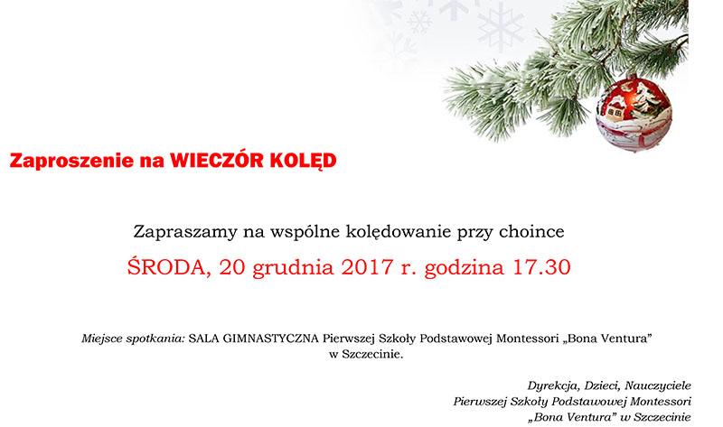 Zaproszenie WIECZÓR KOLED